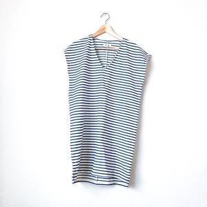 Madewell v-neckline 'vacances' stripe shift dress